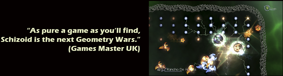 As pure a game as you'll find, Schizoid is the next Geometry Wars - Games Master UK